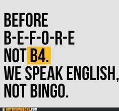 ENGLISH, DO YOU SPEAK IT?