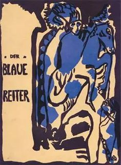 A pioneering movement of German Expressionism, Der Blaue Reiter was the spiritual and abstract counterpart to Die Brücke's distorted figurative style. Wassily Kandinsky, Modern Artists, New Artists, Cavalier Bleu, Color Symbolism, Black And White Words, Blue Rider, Art Story, Large Painting