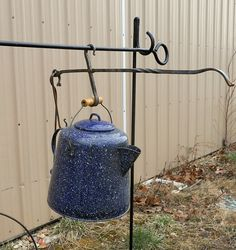 Cowboy Campfire coffee pourer for hunting camp by Myblacksmithshop, $29.95
