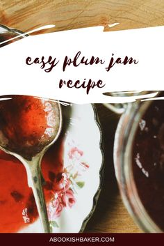 easy and delicious plum jam recipe. Perfect preserve for autumn or fall. Plum Jelly, Plum Jam Recipes, Good Food, Yummy Food, Tasty, Marmalade Recipe, How To Make Jam, Autumn, Fall