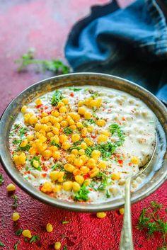 Boondi raita served in a bowl