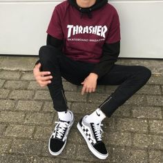 4 Top Cool Ideas: Urban Wear Streetwear Outfit urban fashion grunge all black.Urban Fashion Boho Summer Outfits urban wear h&m. Tomboy Outfits, Mode Outfits, Outfits For Teens, Casual Outfits, Vans Outfit Girls, Boyish Outfits, Summer Outfits, Urban Outfits, Dress Casual