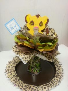 lion themed babyshower for a girl | Simba figure-drawn and painted by myself on foam material