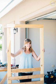DIY pallet wood screen door