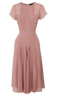 Pleated Midi Dress, £70.00, Warehouse