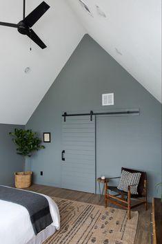 Blue Bedroom Paint, Bedroom Wall Colors, Bedroom Ceiling, Bedroom Decor, Bedroom Rustic, Ikea Bedroom, Bedroom Furniture, Master Bedroom, Home Design