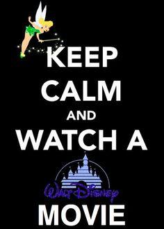 Keep Calm & Watch A Disney Movie =) The only true and guarantee cute to any problem. Disney Fanatic, Disney Nerd, Disney Addict, Disney Girls, Disney Love, Disney Magic, Disney Stuff, Disney And Dreamworks, Disney Pixar