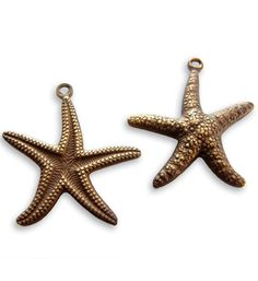 Vintaj - DP90 - 23x20mm Star Fish Double Sided Charm (16 pcs)