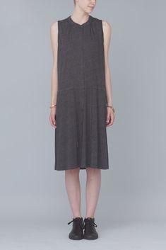Raquel Allegra Sleeveless Button Down Dress With Drawstring (Black)