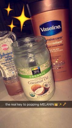 Black skin care, hoe tips, baby oil gel, beauty care, beauty skin Skin Tips, Skin Care Tips, Skin Secrets, Beauty Care, Beauty Skin, Beauty Tips, Beauty Hacks, Schul Survival Kits, Black Skin Care