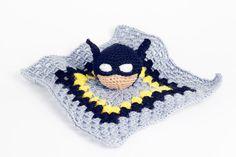 Mantita de apego Batman por  Imu Amigurumi