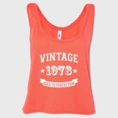 Vintage 1978 Aged To Perfection tshirt - Ladies' Cropped Tank Top