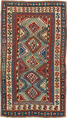 Outstanding Antique Kazak Rug C5S8432 Hand Hooked Rugs, Classic Rugs, Turkish Rugs, Oriental Rugs, Magic Carpet, Tribal Rug, Persian Carpet, Star Patterns, Rug Hooking