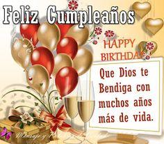Happy Birthday Celebration, Happy Birthday Messages, Happy Birthday Images, Birthday Greetings, Spanish Birthday Cards, Pizza Day, Bday Cards, Get Well Cards, Birthdays