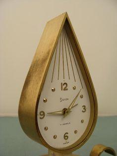 Swiza Mid Century Modern Vintage Swiss Candle Clock