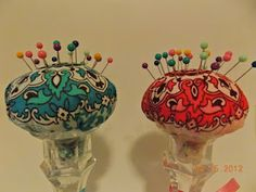 canclestick pin cushions