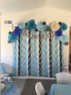Penguin Themed Baby Shower Photo backdrop.