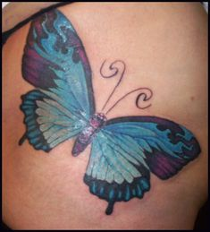 Butterfly Tattoos By Hellcatmolly ~ Butterfly Tattoo Ideas Butterfly Tattoo Cover Up, Butterfly Tattoo Meaning, Butterfly Tattoo On Shoulder, Butterfly Tattoos For Women, Butterfly Tattoo Designs, Butterfly Images, Cover Up Tattoos, Foot Tattoos, Small Tattoos