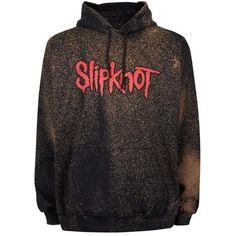 TOPMAN FINDS Black Bleached Slipknot Hoodie ($110) ❤ liked on Polyvore featuring tops, hoodies, hoodie top, bleach hoodie, hooded sweatshirt, hooded pullover and sweatshirt hoodies