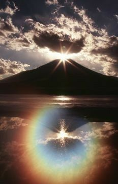 Fuji and the rainbow Beautiful Sky, Beautiful World, Beautiful Landscapes, Beautiful Places, Beautiful Pictures, Landscape Photography, Nature Photography, Monte Fuji, Science And Nature