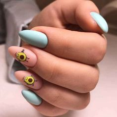 Disney Acrylic Nails, Almond Acrylic Nails, Cute Acrylic Nails, Chic Nails, Stylish Nails, Yellow Nails, Purple Nails, Picasso Nails, Nail Art For Girls