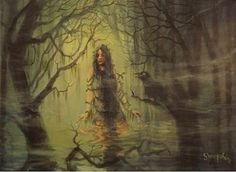 Swamp Witch Rising by Tom Shropshire Acrylic ~ 12 x 16