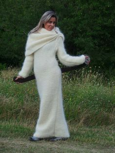 MADE to ORDER  Fluffy Thick Hand Knit Sweater  by EXTRAVAGANTZA, $355.00