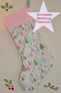Christmas DIY : Sew Scrumptious: Christmas Stocking Tutorial and Pattern. The pattern was pretty narrow. I would widen it before cutting out fabric. Christmas Sewing Projects, Easy Sewing Projects, Sewing Projects For Beginners, Sewing Hacks, Sewing Tutorials, Christmas Diy, Sewing Crafts, Sewing Tips, Sewing Ideas