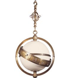 {Siobhan - Dining room} Visual Comfort E.F. Chapman Zodiac 2 Light Pendant in Antique-Burnished Brass.