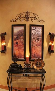 tuscan xmas decorations | Tuscan Family Room traditional