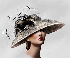 Kentucky Derby Couture Hat in Python Print by ffortissimo on Etsy, $298.00