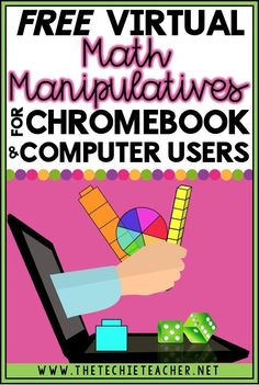 FREE Virtual Math Manipulatives for Chromebook and Computer Users Base ten blocks, spinners, geoboards, fraction circles.These are all types of math manipulatives that teachers have readily availab Math Teacher, Math Classroom, Teaching Math, Google Classroom, Teacher Binder, Student Learning, Classroom Decor, Calculus, Algebra