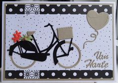 Bicycle Cards, Marianne Design, Stampin Up, Birthday Cards, Applique, Stamps, Birthdays, Card Making, Paper