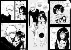 """The holidays finally arrive and I find myself too lazy to draw anything for the first 2 weeks x.x I decided to attempt to get back into colouring, and I tried again at the whole concept of the """"bac. Bleach Ichigo And Rukia, Bleach Anime, Bleach Couples, Alucard, Anime Ships, Sword Art Online, Webtoon, Anime Art, Geek Stuff"""