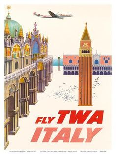 CANCUN Mexico TWA Airline Constellation Plane Travel Poster Pin Up Art Print 127