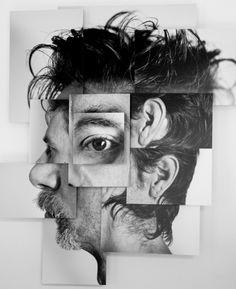 Photosculptures - Portrait Sculpture Photo Series by Brno Del Zou Portrait Sculpture, L'art Du Portrait, Photo Sculpture, Collage Portrait, Abstract Portrait, Cubist Portraits, Face Collage, Collage Art, Photomontage