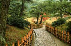 Yotsume gaki Jardins japonais - Clôture japonaise simple