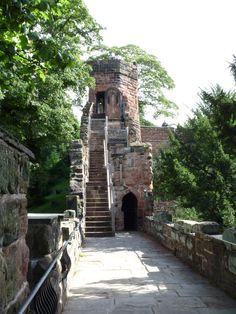 Chester Walls, of Roman origin. Two mile fortification surrounding the old city. Chester UK