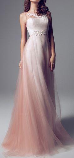 Ombré Tulle Bridesmaid dress.