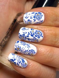 The Happy Sloths: Chinese Porcelain Nails: Water Decal Manicure + $20 Born Pretty Store Giveaway