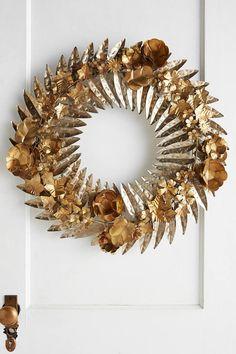 Anthropologie Hammered Garland Wreath