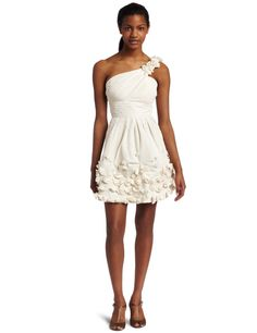 2a498a5adced Amazon.com: BCBGMAXAZRIA Women's Quinby One Shouldered Cocktail Dress,  Corozo, 0: Clothing