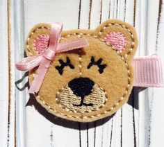 A personal favorite from my Etsy shop https://www.etsy.com/listing/262893626/sweet-teddy-bear-hair-clip-girls-hair