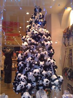 Panda Christmas Tree-  if you hoard it-you can make a tree from it ;-)  Lisa Bradley this is for you!