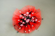 Beautiful bride red flower head $31.00