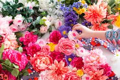 Make a flower backdrop