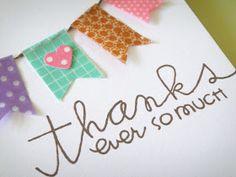 Sweet card with a washi tape garland banner