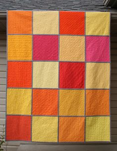 I have been wanting to do one of these quilts for a long time, however, I did not think about quilting different patterns within each block.