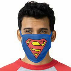 Superman S-Shield | Superman Logo Face Mask - tap, personalize, buy right now! #FaceMask  #superman #afflink Superman Logo, Superman Gifts, Superman Symbol, Logo Face, Avengers Birthday, Health And Safety, Spandex Fabric, Snug Fit, Sensitive Skin