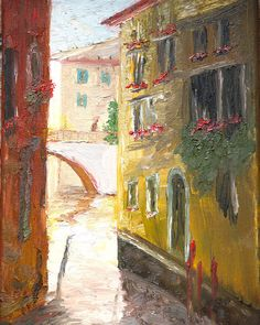 Venice Canal Painting European Painting Art Oil Painting